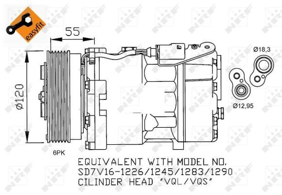 VW BEETLE 1.4 Air Con Compressor 01 to 10 BCA AC