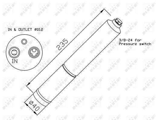 Air Con Receiver Drier fits NISSAN X-TRAIL T30 2.2D 05 to