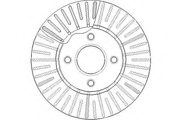 Brake Disc (Single) Vented fits NISSAN NOTE E12 1.5D Front