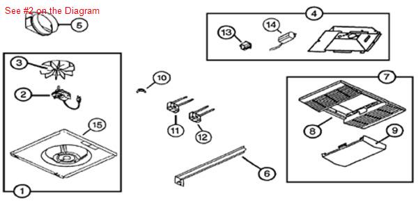 Broan Nutone VENT FAN BLOWER MOTOR 87547000â— 3000 RPM, 1