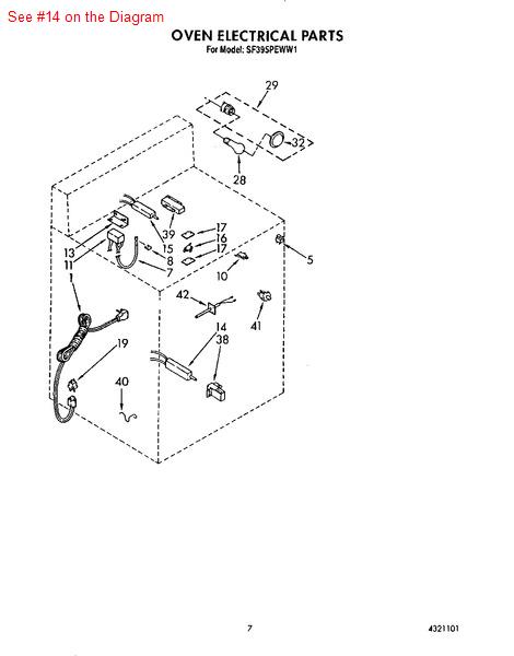 Whirlpool Maytag Sears Kenmore Range Flat Oven IGNITER
