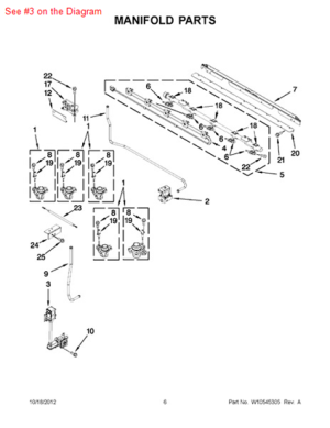 VALVEGAS  Part# 7510P10160 Appliance parts and Supplies : PartsIPS