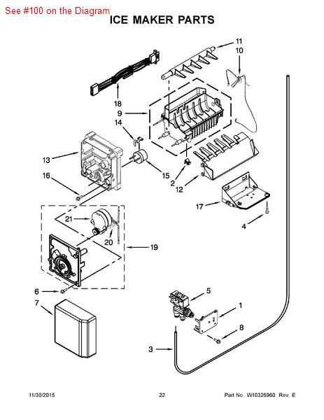 Kitchenaid Refrigerator Ice Maker Parts List