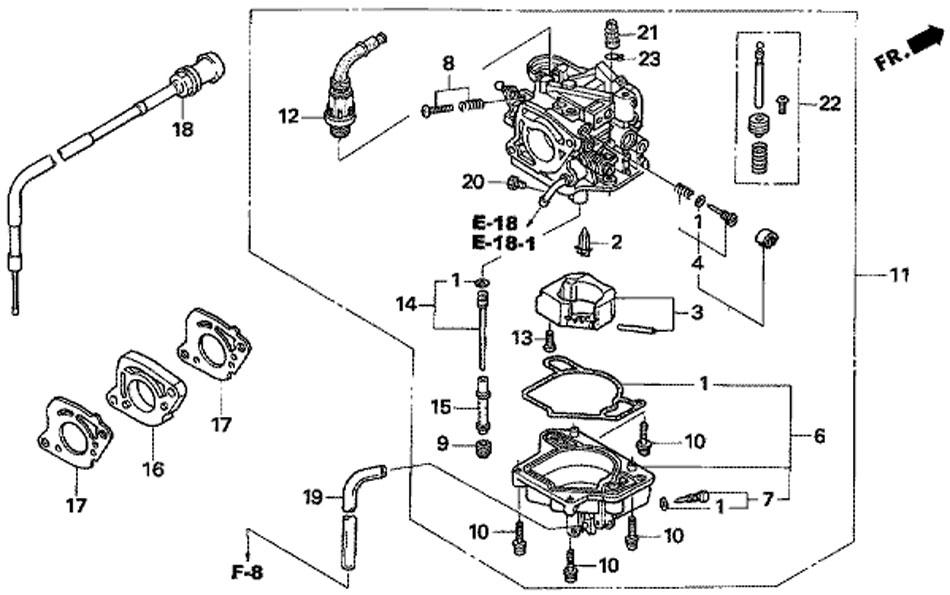 Карбюратор подвечного мотора Honda BF15D3SHU.