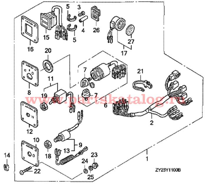Honda Bf225 Outboard Parts Diagram. Honda. Auto Wiring Diagram