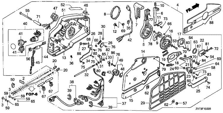Дистанционное управление Honda BF30 A4 SRTU (Remote Control).