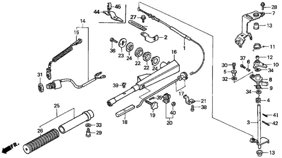 Ручка рулевого управления, трос дроссельной заслонки