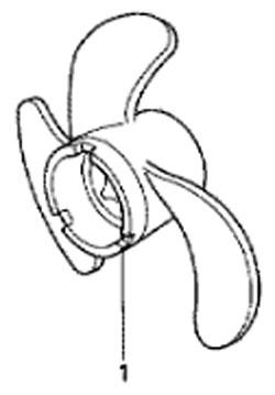 Гребной винт лодочного мотора Honda BF5 A4 SU (Propeller