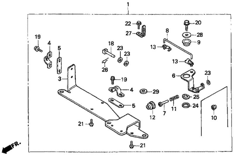 Набор дистанционного управления Honda BF5 A4 SU (Remote