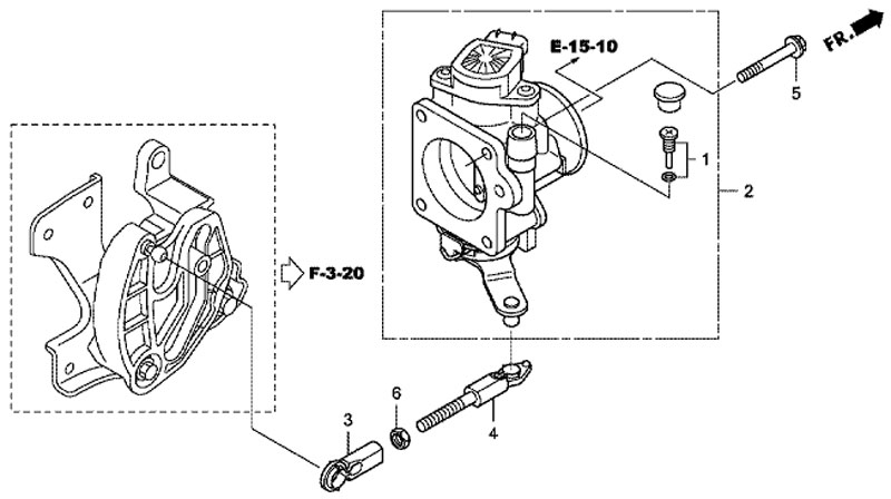 Корпус дроссельной заслонки (Gasolene Throttle) лодочного