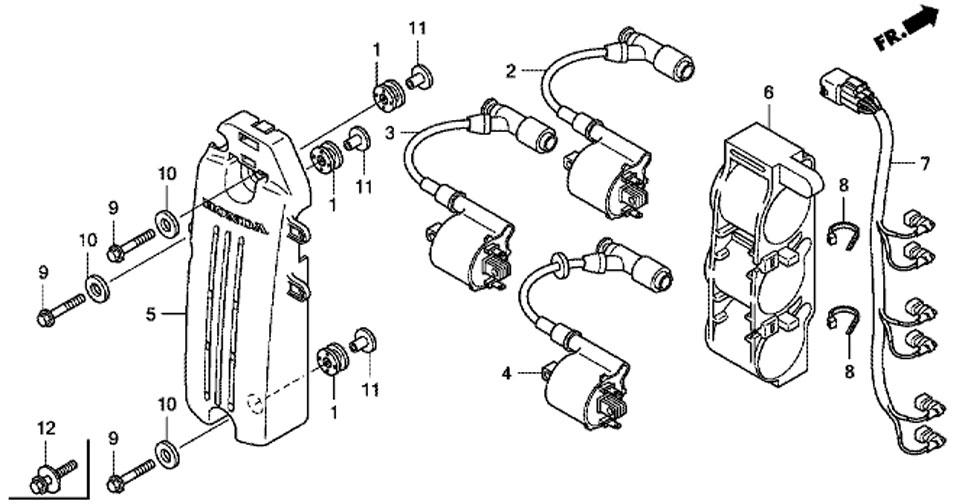 Катушка зажигания подвесного мотора Honda BF50 D LRTU.
