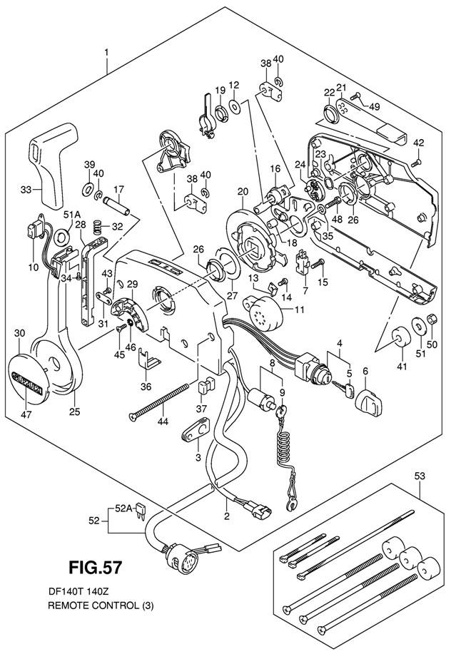 Remote Control на лодочный мотор Suzuki DF140 TL K11 E1 на