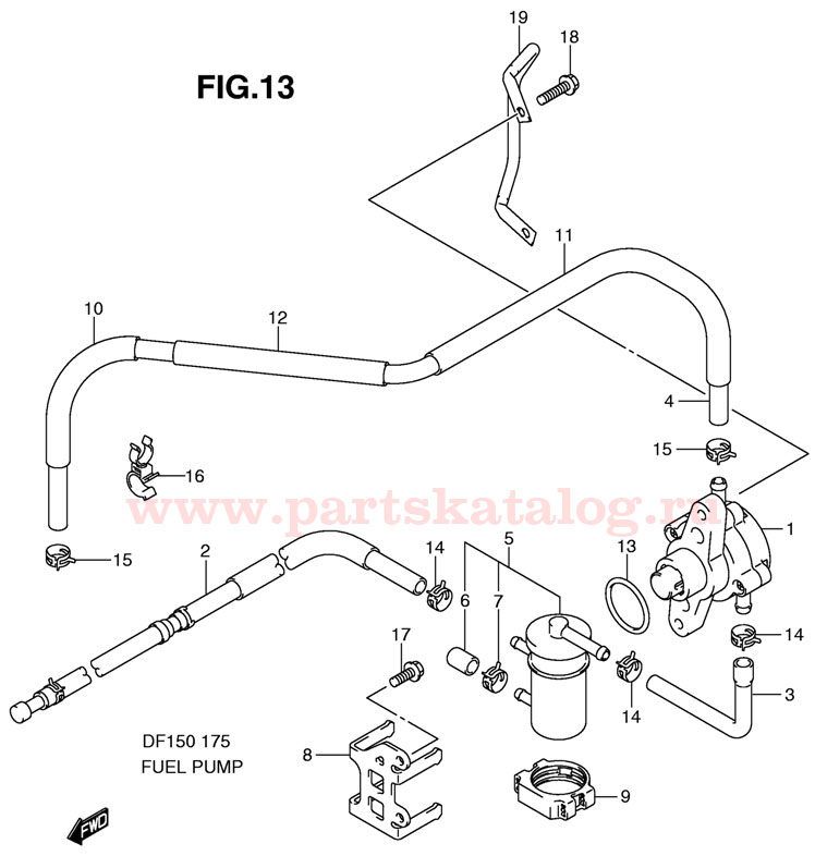 Купить запчасти двигателя Suzuki DF150TX K11 E1