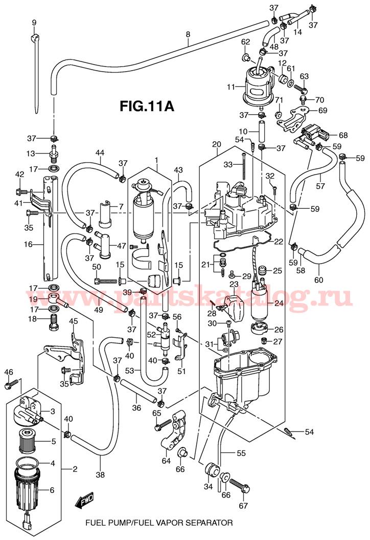 Отделитель паров топлива Suzuki DF200 TK11 E1 K11 и