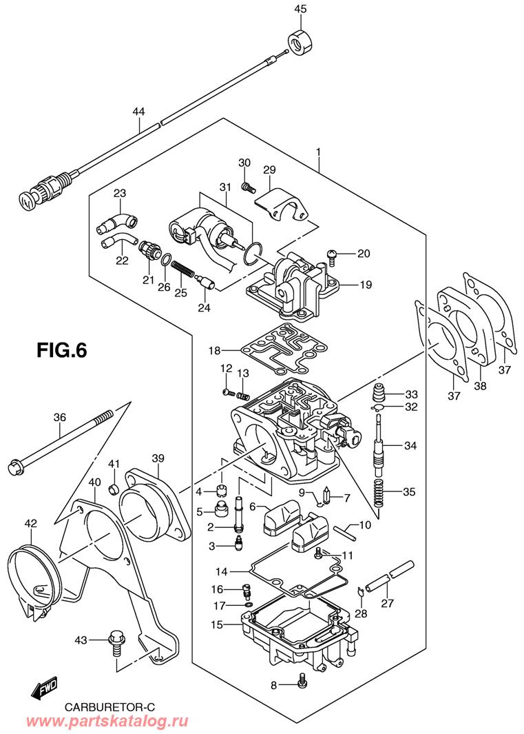 Запчасти для карбюратора Suzuki DF25 SK10 (Carburetor).