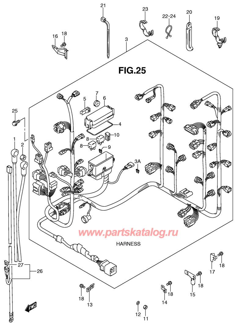Жгут проводов подвесного двигателя Suzuki DF300 TK10