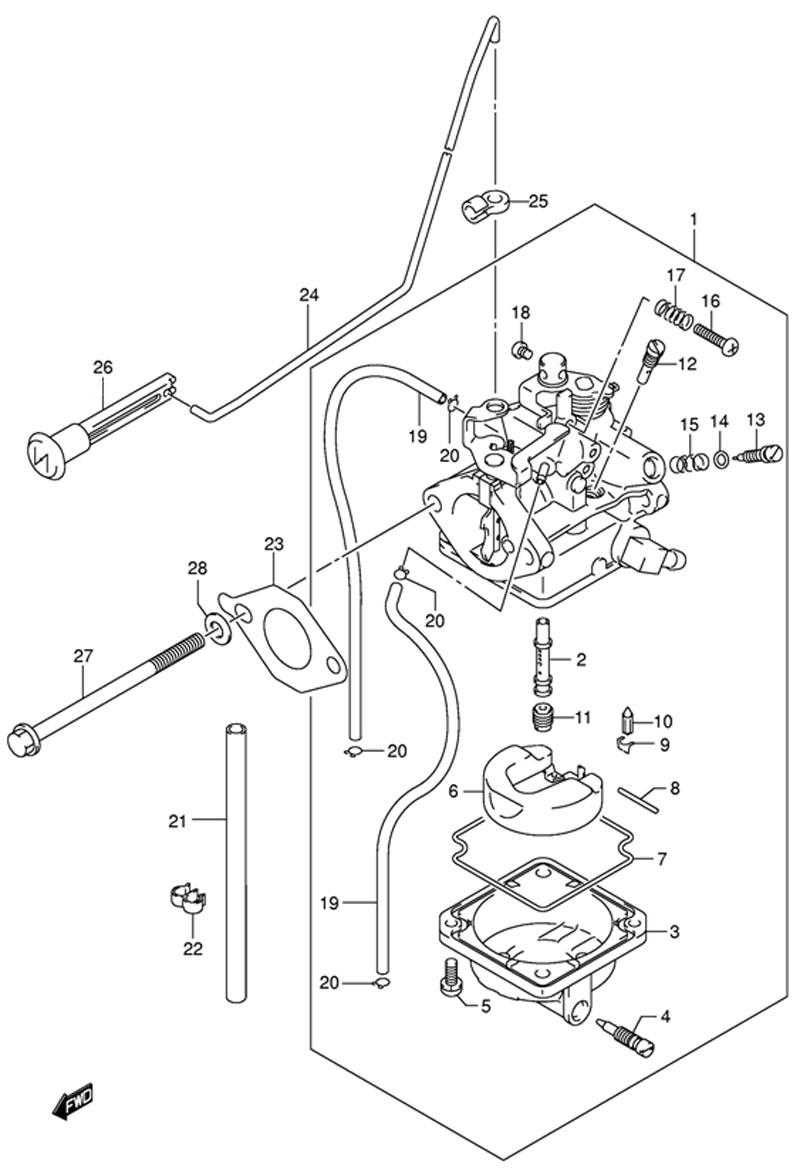 Карбюратор (Carburetor), оригинальные запчасти для мотора