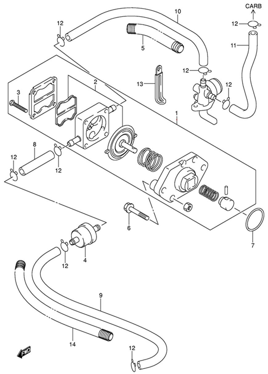 Топливный насос (Fuel Pump) запчасти для двигателя Suzuki