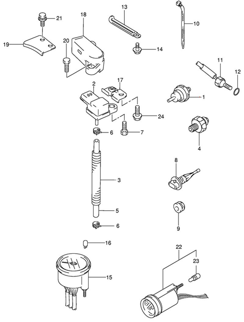Датчик (Sensor) подвесного двигателя Suzuki DF 50 TL K9