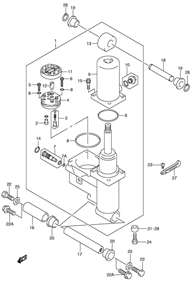 Механизированный дифферент наклона (Trim/Tilt Power Assy