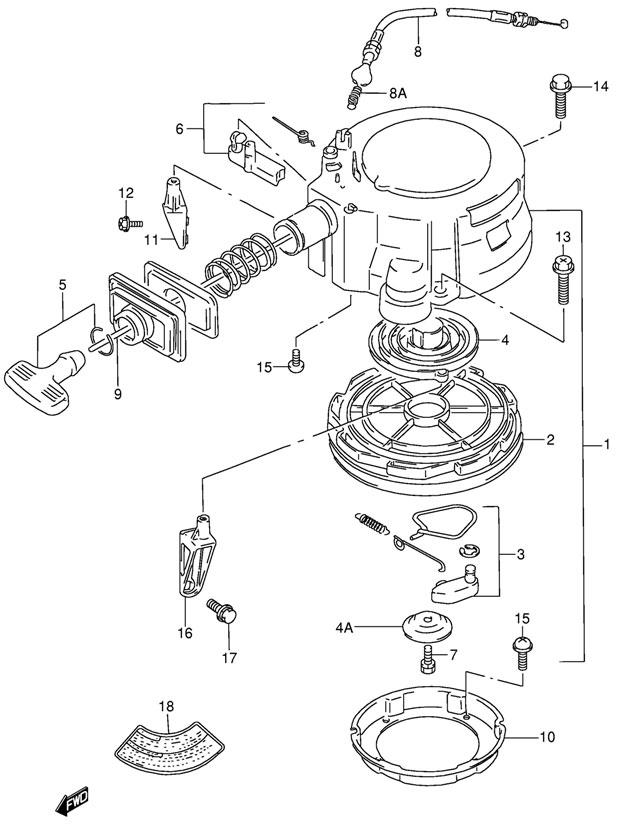 Купить барабанный стартер Suzuki DT-30 LK11 E1 2011