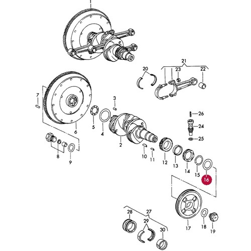 small resolution of oil slinger front pulley 356 912
