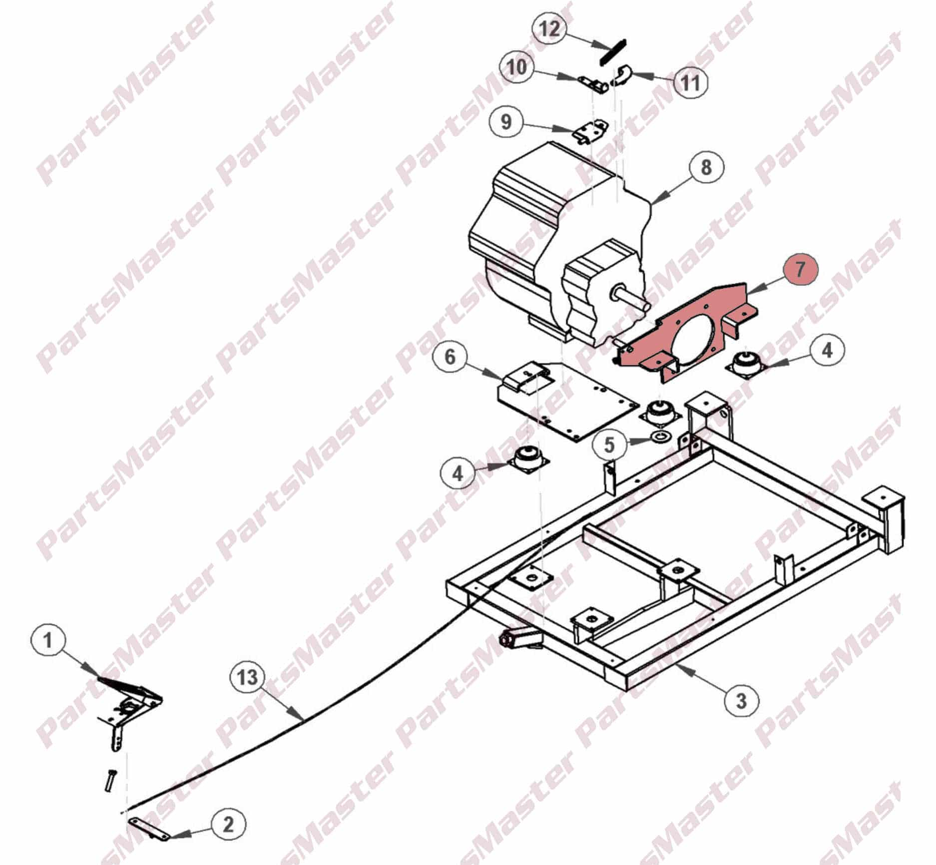 hight resolution of kohler engine mount 2160301027