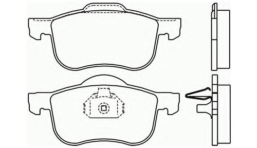 Genuine Volvo XC70 (01-07) Front Police Brake Pads (with