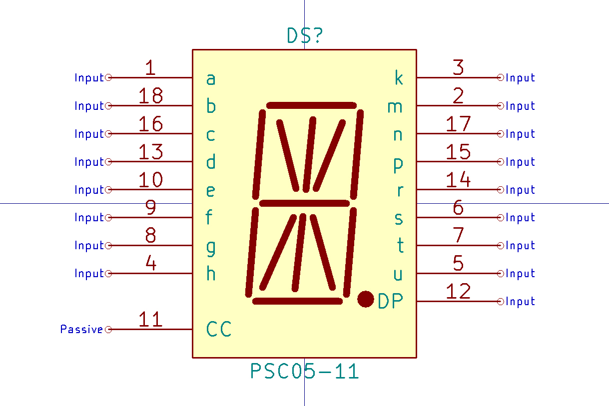 Making A Time Circuit Display Schematic Parts Not Included Here Is The For 2digit 7segment Click Kicad Symbol Psc0511