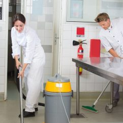 Kitchen Cleaning Tables With Benches How To Clean A Commercial Thoroughly Parts Town Floors