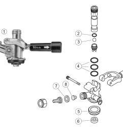 dr4kp single valve keg coupler parts list [ 1076 x 852 Pixel ]