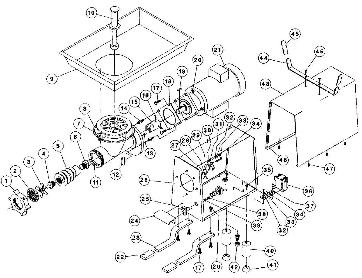 Meat Grinder Parts Diagram