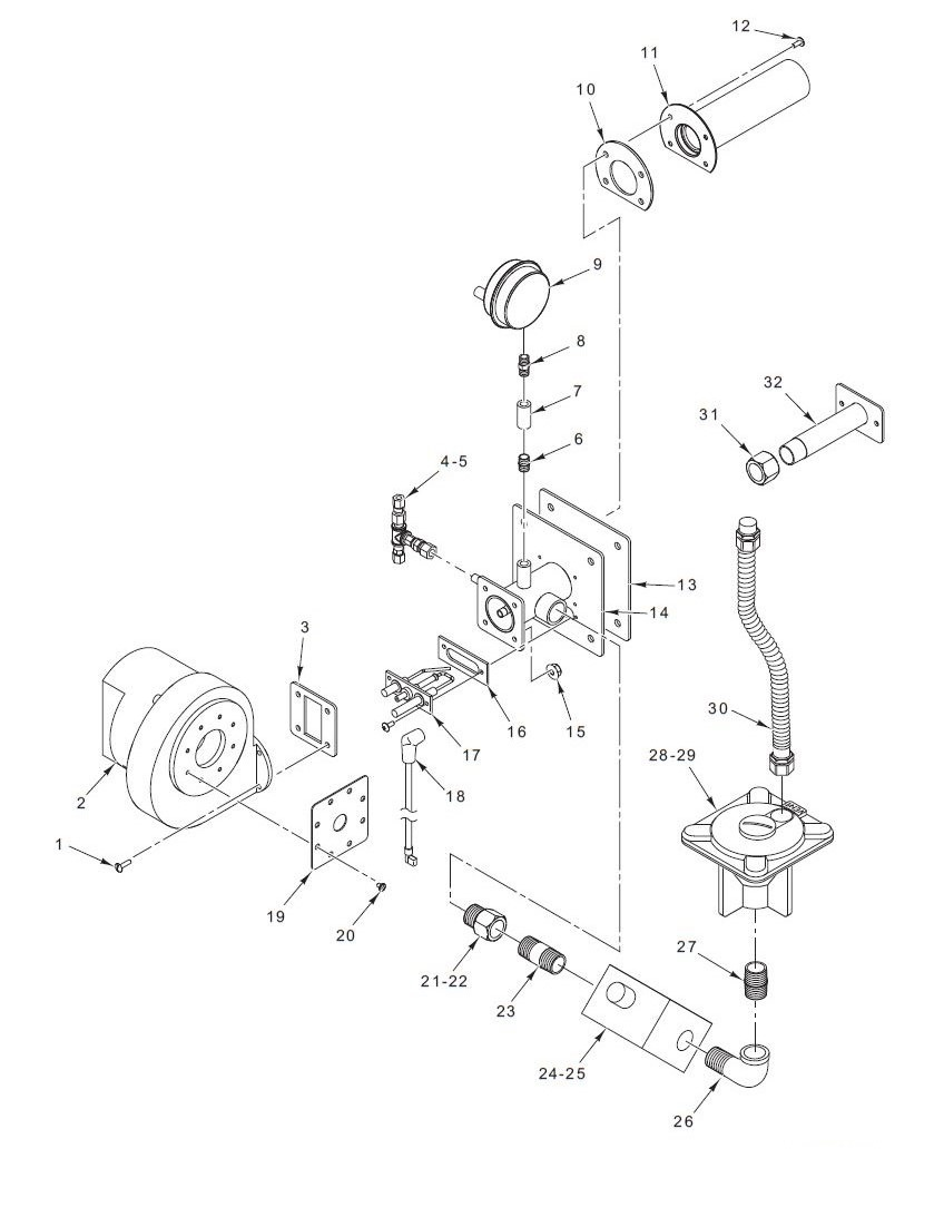 hight resolution of c24ga10 burner assembly