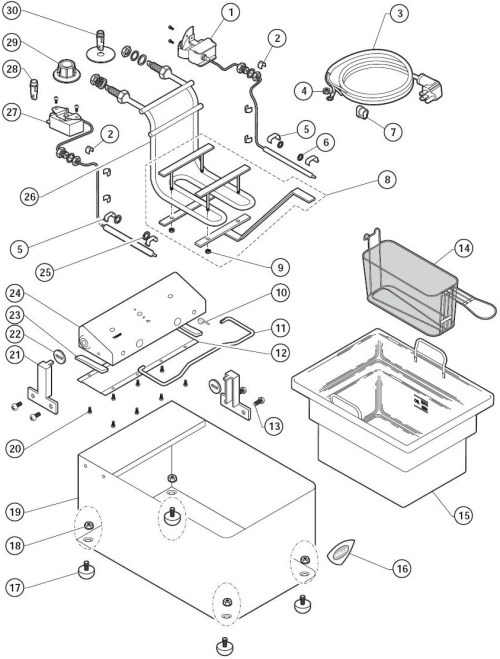 small resolution of f14 countertop 14 fryer