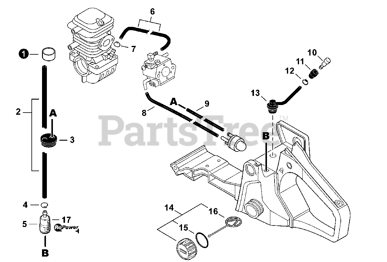 Echo Parts on the Fuel System S/N C09212001001