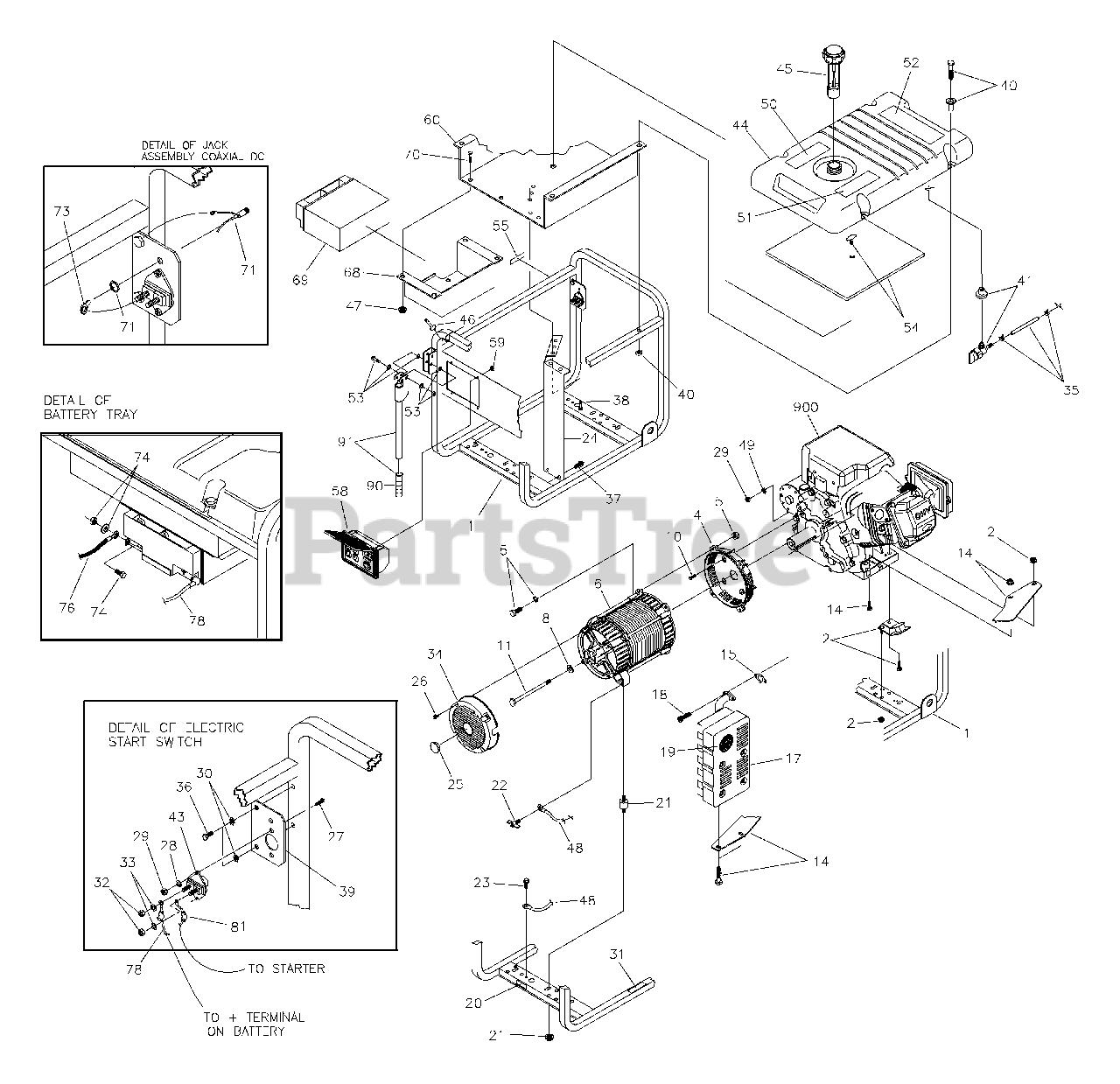Troy-Bilt Parts on the Main Unit (197981) Diagram for