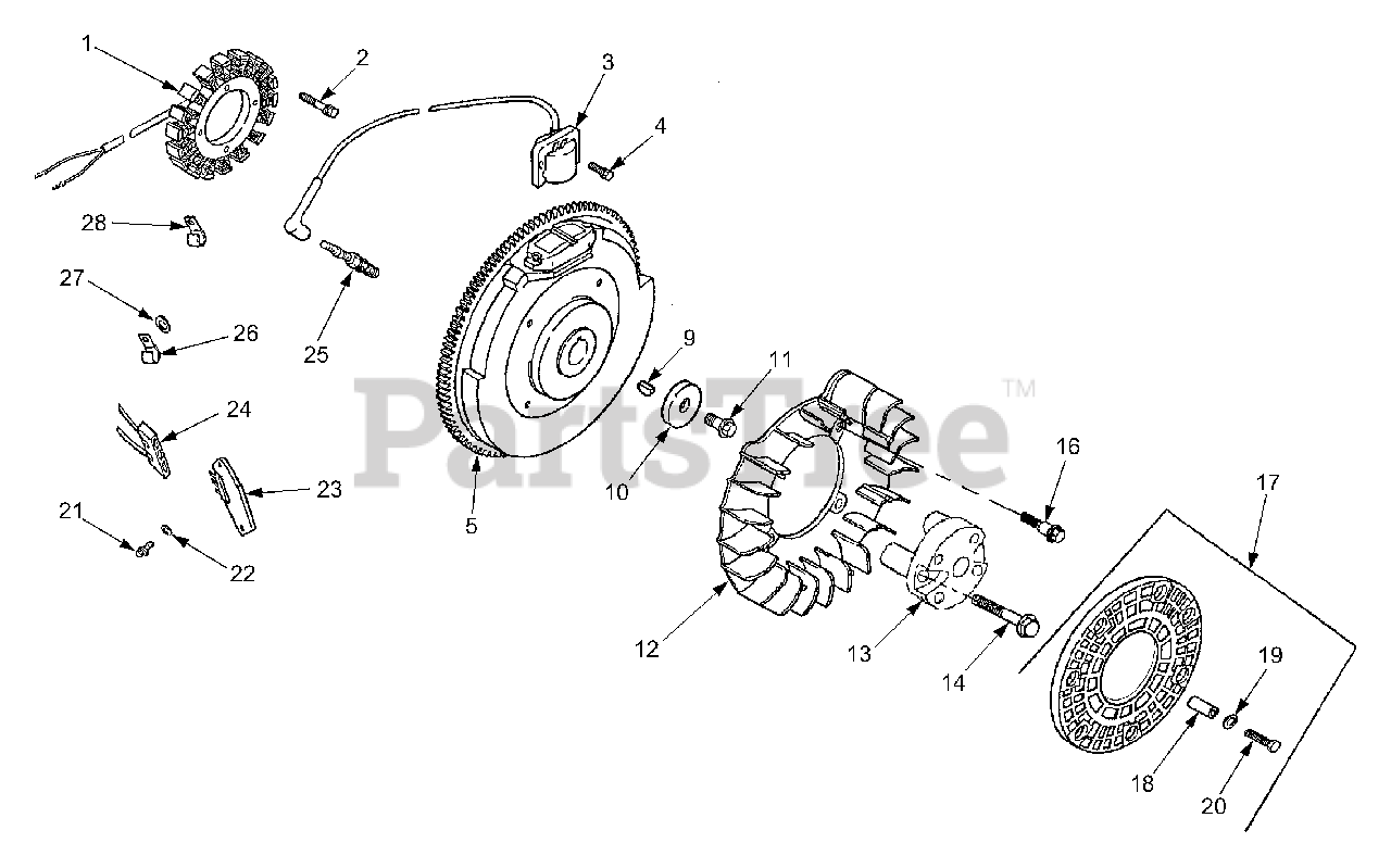 Cub Cadet Parts on the Ignition/Electrical Diagram for
