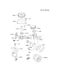 Kawasaki parts and diagrams for Kawasaki FD590V-BS08