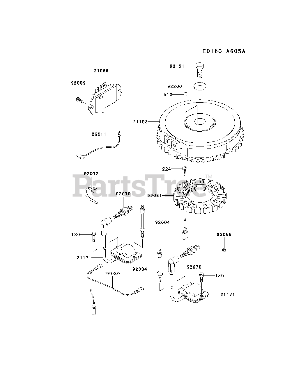 Kawasaki Parts on the ELECTRIC-EQUIPMENT Diagram for
