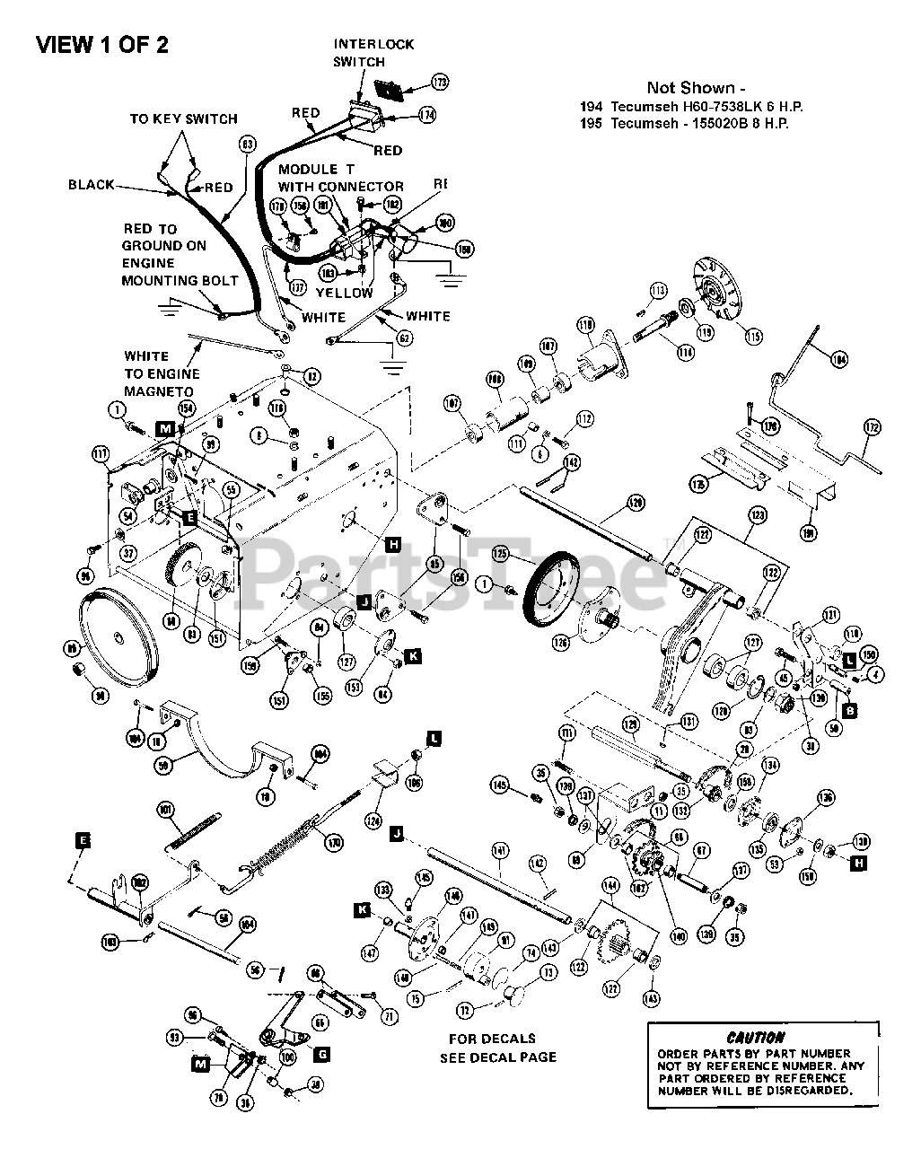 Ariens Parts on the TRACTOR PARTS (CONTINUED) Diagram for