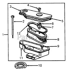 Cub Cadet parts and diagrams for Cub Cadet 1110 (135-293