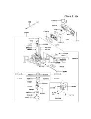 Kawasaki parts and diagrams for Kawasaki FX691V-AS19
