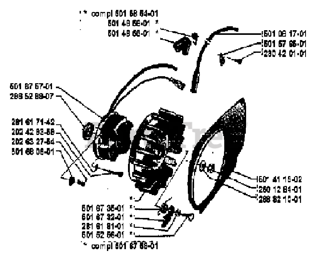 Husqvarna Parts on the Ignition / Flywheel Diagram for
