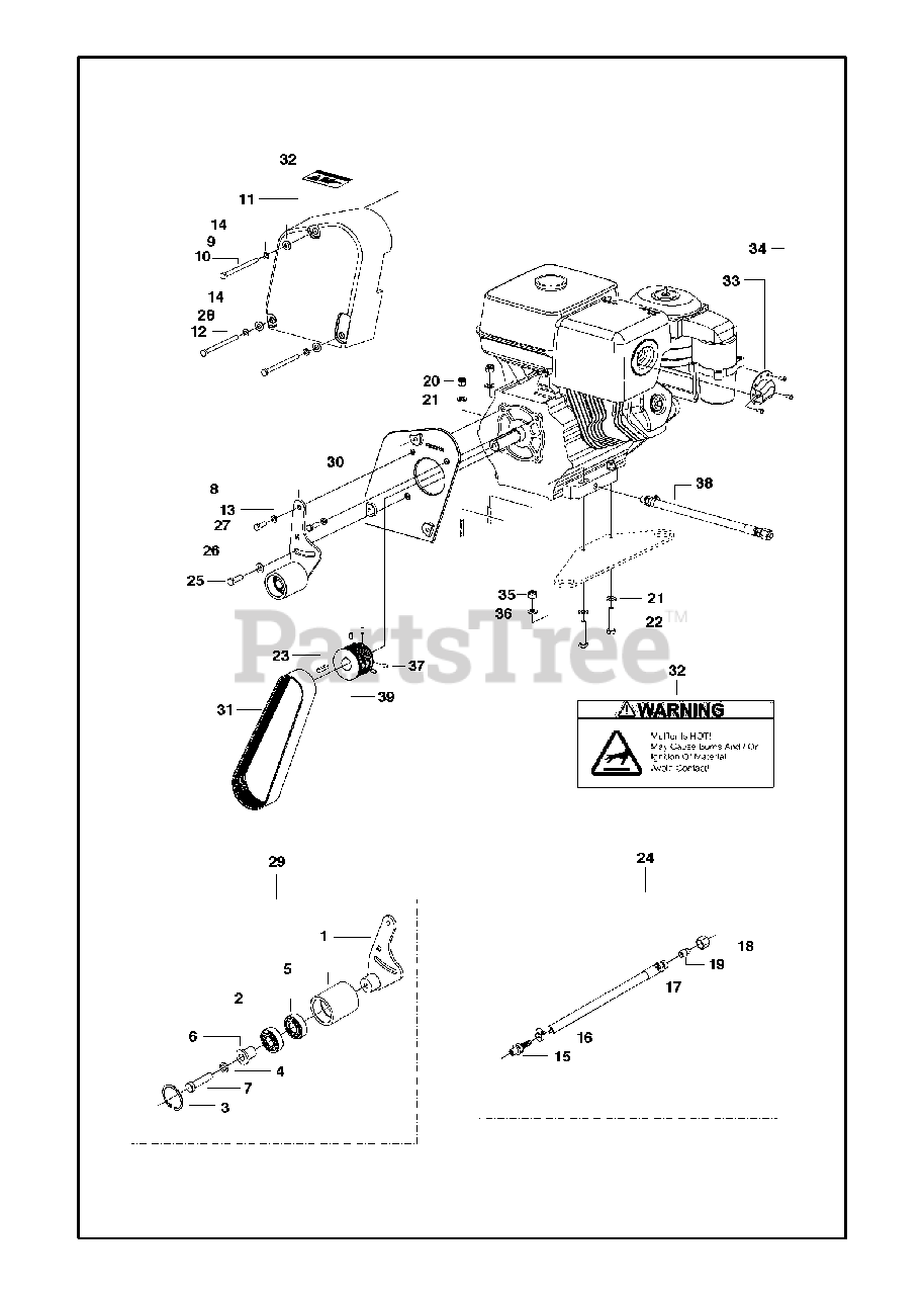 Husqvarna Parts on the ENGINE & IDLER Diagram for FS 413
