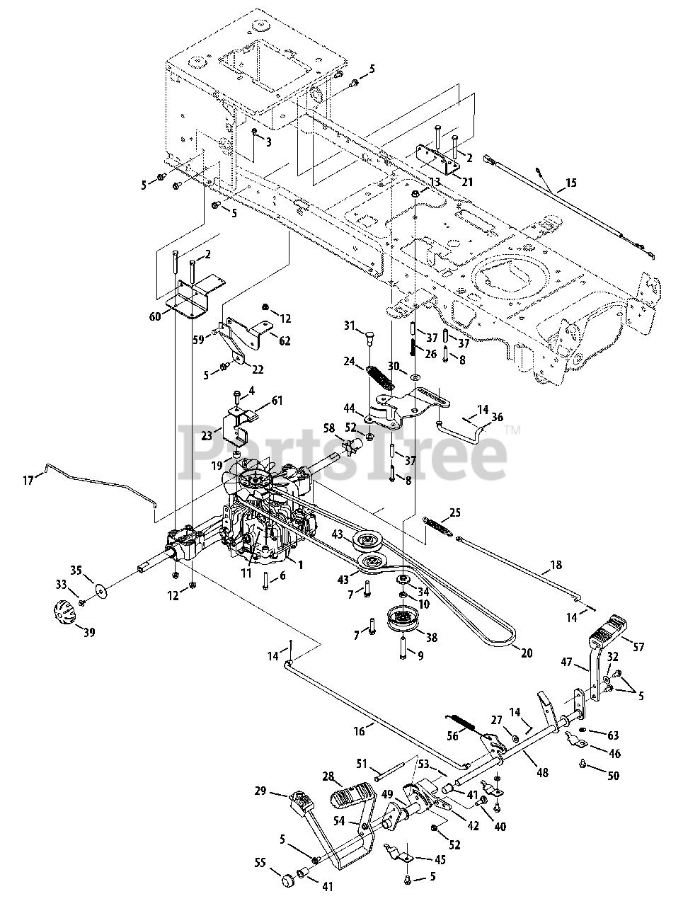 Cub Cadet Parts on the Drive System (Tuff Torq) Diagram