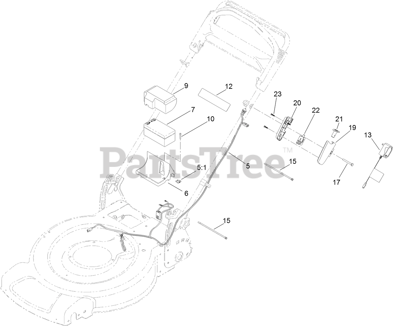 Toro Parts on the ELECTRICAL ASSEMBLY Diagram for 20334