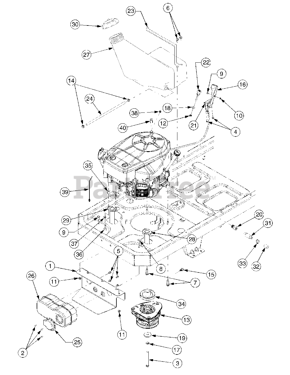 Cub Cadet Parts on the Engine Accessories Kawasaki Diagram