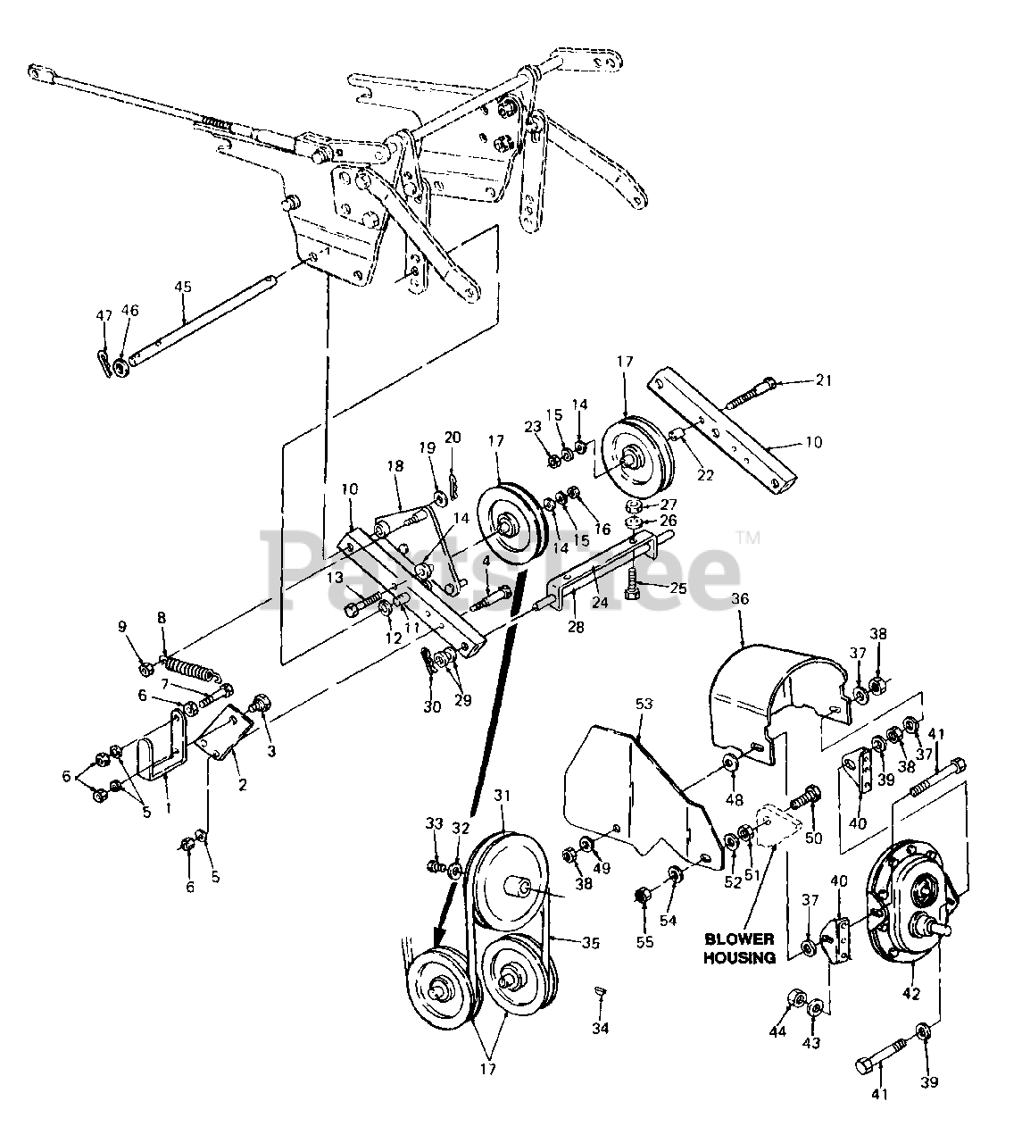 Cub Cadet Parts on the Undercarriage Drive Diagram for 451