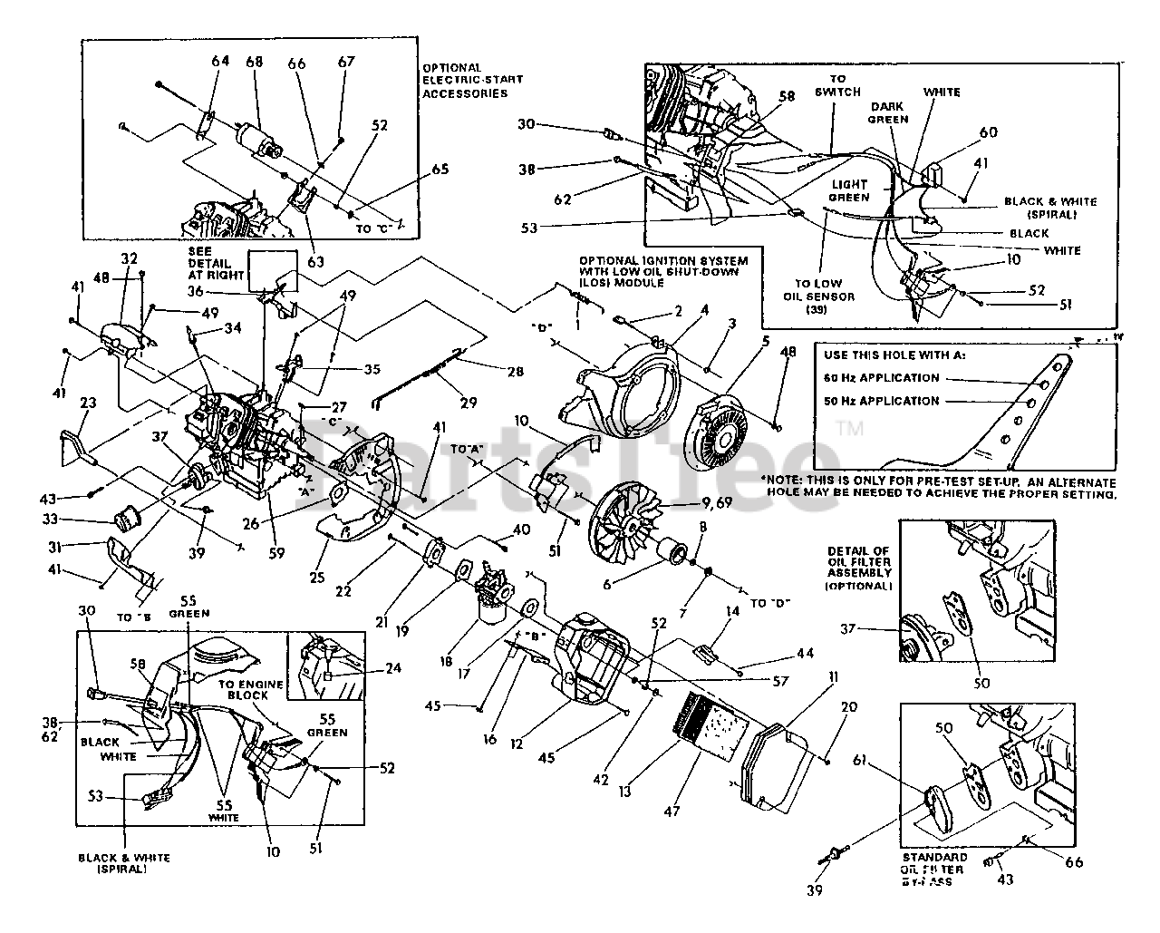 Generac Parts On The Gn Engine Trim Parts Drawing No