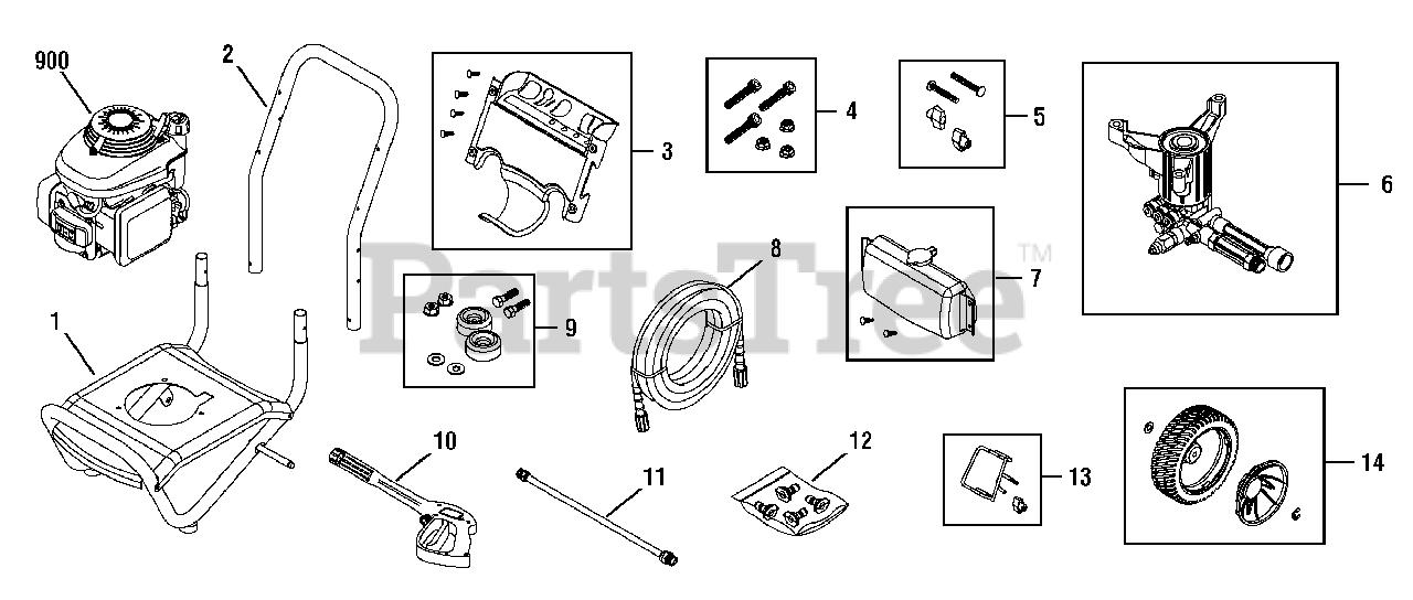 Troy-Bilt Parts on the Main Unit (208046S) Diagram for